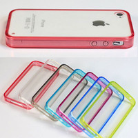 Wholesale case for iphone S S top quality half clear TPU full clear acrylic material a DHL FEDEX