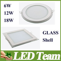 No 110-240V 5630 Freeshipping Led Panel Light 6W 12W 18W Square Round Led Down Light Recessed Light 150 Angle Led Fixture High Quailty CE&ROHS FCC UL