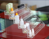 Wholesale E Liquid bottle acrylic display stand Layer keystone shape