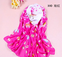 Wholesale 50pcs Hot sale New Rose red Spring and summer fashion women s long scarf sunscreen colors to choose from High quality chiffon scarves