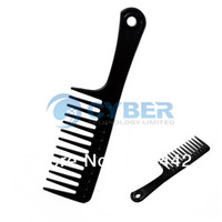 Wholesale Big Discount Barbers Hair Styling Hairdressing Hair Accessories Plastic Comb Stylist Set Tool Black