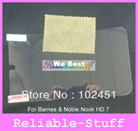 Yes No PC / Notebook CLEAR Screen Protector Cover Shield Case for Barnes & Noble Nook HD 7 100pcs lot No Retail Package Free shipping MSP587