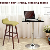 Wholesale TOP Capable of rotating and lifting the bar computer table bar table bar furniture products shiny metal base