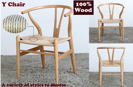 Wholesale Y chair solid wood dining chair oak solid wood Wegner Y chair leisure chairs a variety of colors wood furniture