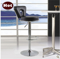 Wholesale Hot Fashion bar chairs bar chairs can rotate and lift PU bar chair shiny metal base home furnishing or business application