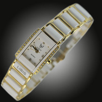 Wholesale by EMS Riblah white ladies vintage watch fashion rhinestone sheet ceramic women grace watches