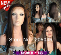 Wholesale 2013 XCSUNNY New Gorgeous quot quot Silk Striaght Lace Front Wig Malaysian Human Hair Wigs LFH026