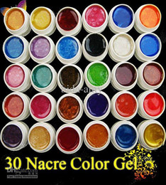 Wholesale ML pearlescent nacre color UV Gel For Nail Art Tips NA950