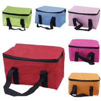Wholesale New Portable Lunch Bag Keep Warm Organizer Box Oxford Cloth Handbag Storage Bags Fit Travel Picnic Style Choose DGZ