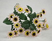 Wholesale silk flowers Simulation sunflower bundle flowers bundles artificial Daisy flowers wedding party home decorations fake flower bouquets A21