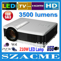 Wholesale cheap portable lumens x800pixels full HD LED D home theatre projector with double HDMI factory