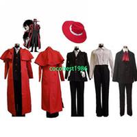 Unisex alucard cosplay costume - Hellsing Alucard Cosplay Costume Set Vampire Hunter New any size