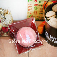 Wholesale Christmas Tree clear plastic cookie food pack gift bags for packaging cm