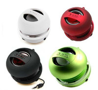 Wholesale X mini II Portable Pocket Capsule Speaker For Ipod Iphone MP3 PC Hamburger Style Black Red White Colors Available