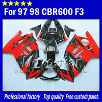 Wholesale 7Gifts Tank for honda CBR600 F3 fairings set CBR F3 CBR F3 abs fairing glossy red in black XC23