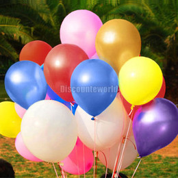Wholesale 50 pack quot Pearlised Latex Helium Inflable Thickening Pearl Wedding Party Birthday decoration Balloon Cx43