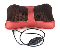 Infrared Therapy   Multi-function car home dual-use massager neck massage pillow massage cushion for leaning on waist red wine Y3016C