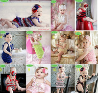 Girl newborn vests - Toddle Girls Layered Lace Vest Jumpsuit Newborn Baby Headbands Rompers Infant One piece Babies Romper Gauze Yarn Tutu Bubble Coverall D1638