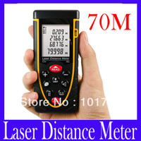 Wholesale RZ70 m ft Laser distance meter with bubble level Rangefinder Range finder Tape measure MOQ