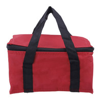 Wholesale New Insulated Lunch Bag Red Square Shape Zipper Open Convenient To Carry For Picnic DGZ3