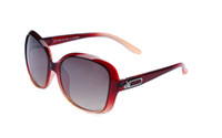 Wholesale Black and Pink Transparent Square Sunglasses for Women
