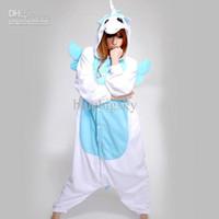 Anime Costumes adult onesies unicorn - Blue Unicorn Adult Kigurumi Pajamas Anime Animal Cosplay Costume Onesies Pyjamas
