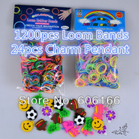 Beaded, Strands Children's Gift Hot Rainbow Loom Rubber Bands Refills Twistz Band Charm Pendant Accessories DIY Bracelets Children Fashion Jewelry