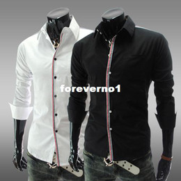 Wholesale new fashion Long sleeve shirt men s mercerized cotton non iron Korean leisure high quality color