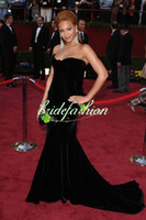 beyonce gowns - 2015 Pageant Gowns Beyonce Knowles Black Formal Dress Oscar Red Carpet Mermaid Prom Gowns