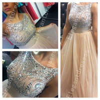 Wholesale Best Selling Beautiful Exquisite Beaded Crystal Ball Gown Prom Dresses Formal Shil04
