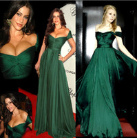 Model Pictures green wedding dress - 2014 Evening Dress Off Shoulder Dark Green Oscar Special Occasion Pageant Dresses Pleated Corset A line Wedding Party Prom Gown Dress E13269
