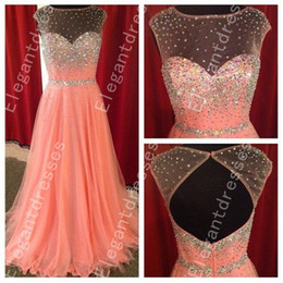 Wholesale Best Selling Beautiful Exquisite Beaded Illusion Neck Prom Dresses Formal Dresses Shil11