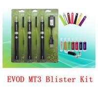 Electronic Cigarette Set Series AS Pictures MT3 Atomizer EVOD Kit Electronic Cigarette Blister Starter Vaporizer Evod Battery E Cig Vape fit Vivi nova CE4 Free shipping