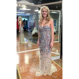 New Design 2016 Popular Sweetheart Strapless Rhinestone Beads Sequins Evening Dresses Arabic Formal Dresses Shil 73