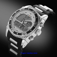 Wholesale New Men s military watch Dual Time Digital Quartz Sports Wrist Watches backlight Chronograph years warranty