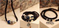 Wholesale HOT SALE Blue gravel bracelet Purple yellow white crystal agate bracelet Coin amulet beads bracelet Fashion Jewelry cheap