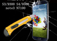 Wholesale Premium Tempered Glass Film Screen Protector for Samsung Galaxy S3 S4 Note NOTE i9300 i9500 n7100 n9000 S5 I9600 G900