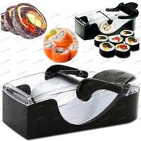 Wholesale LLFA4244 Easy Sushi Maker Roller equipment MAGIC ROLL PERFECT Roll Sushi Tools machine