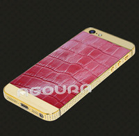 Wholesale for iphone s k gold housing with genuine animal skin kingphone