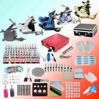 5 Guns professional tattoo kit - Complete Professional Tattoo Kit Machine Gun Ink Color Set Power Supply Needles