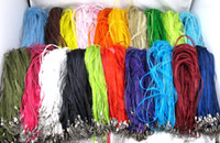 Cord & Wire organza ribbon necklace - Mixed Organza Ribbon Waxed Cord Necklaces cm with Lobste Colorful Chains Ribbon Necklace Cord with Strands Wax Cord