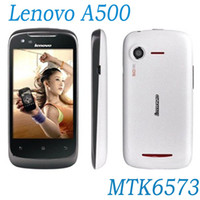 Wholesale 5pcs DHL Hot sale Lenovo A500 MTK6573 Smart Phone Android OS G GPS WiFi Inch MP Camera MB Dual cameras White