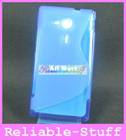 Wholesale S Line Wave Silicone TPU GeL Case Back Cover Skin Protector for Sony Xperia SP M35H M35HC01