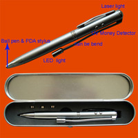 Wholesale 5 in Laser Pointer LED Stylus Pen UV Money Detector free with track number