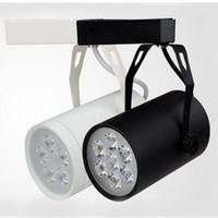 Wholesale New Led Track Rail Light W W Black Shell White Shell Led Projection Lamp Led Ceiling Light Led Spotlight Wall Lamp