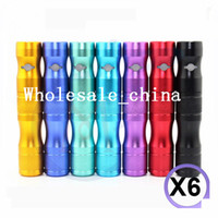 Wholesale New Lava Tube VV Battery E Cigarette X6 mAh colorful Variable voltage Battery adapter X8 CE4 CE5 all atomizer Best quality DHL Free
