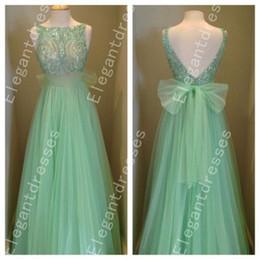 New Design 2016 Sparkle Beaded Sequins Bow Back Evening Dresses Formal Dresses Shil 109