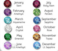 Wholesale Floating Locket mm Birthstone Charms x Each Month pieces