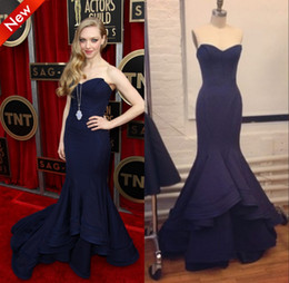 Wholesale Real Image Corest Bodice Mermaid Navy Blue Satin Formal Women Dress Sexy Evening Prom Gowns Sweetheart Sleeveless High Qulaity