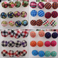 Stud cheap stud earring - Cheap Plastic Anti Allergy Needle Stud Earrings Coth Button boxes Korea Mixed In Random